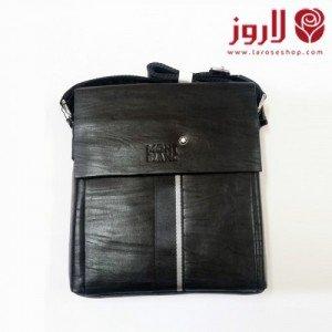 Mont Blanc Men Bag .. Black Leather